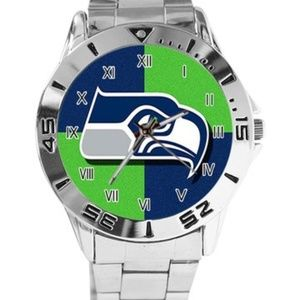 NFL Seattle Seahawks Watch Stainless Steel Band